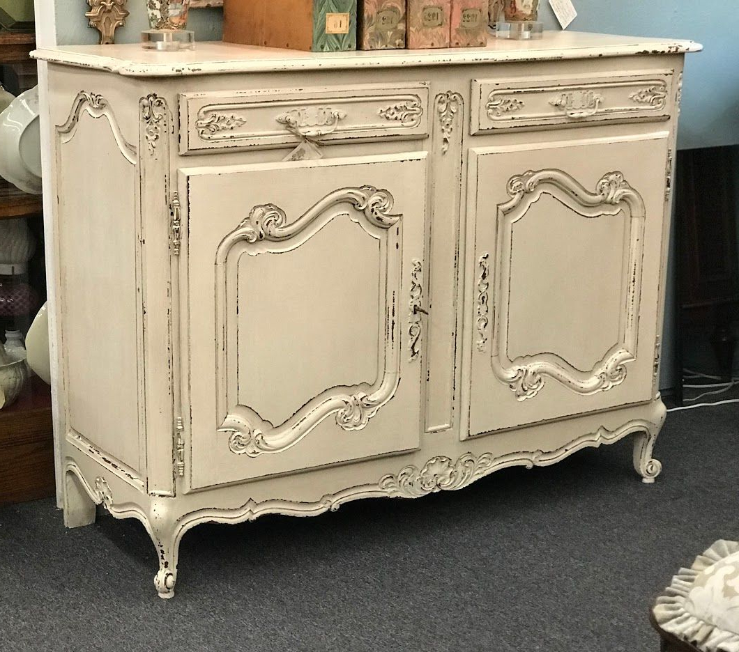 """Pardeesville 55"""" Wide Buffet Tables Within Most Up To Date Painted Two Door French Buffet Circa 1940  (View 6 of 20)"""