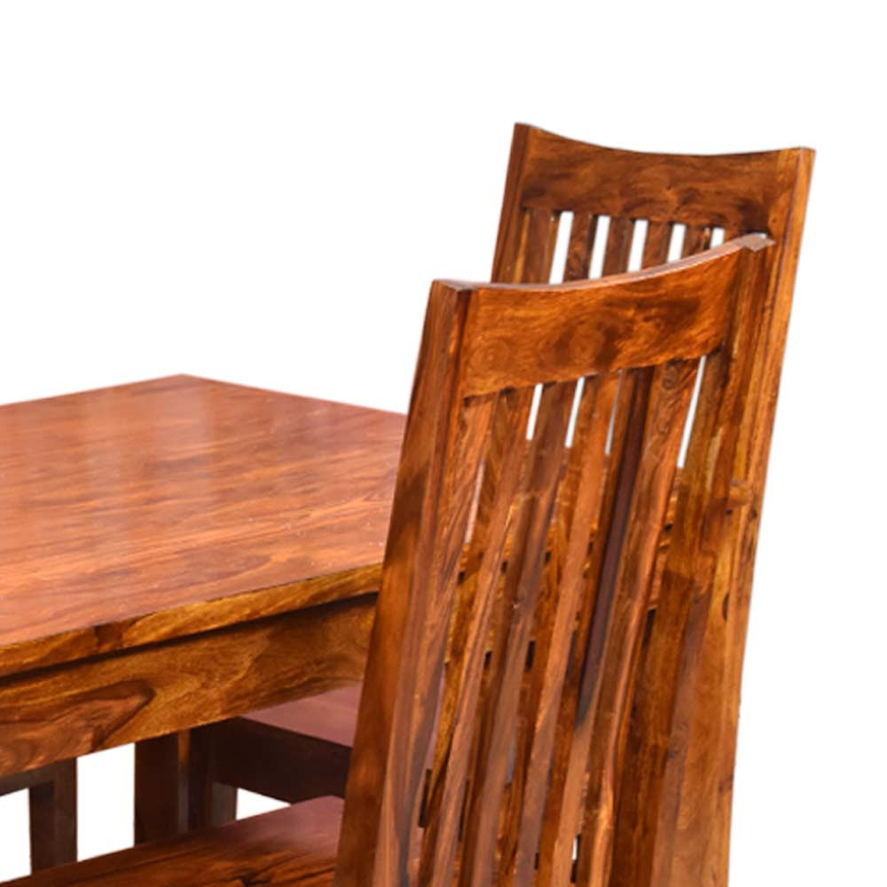Patron Solid Wood Four Seater Dining Set With Best And Newest Tarakan (View 20 of 20)