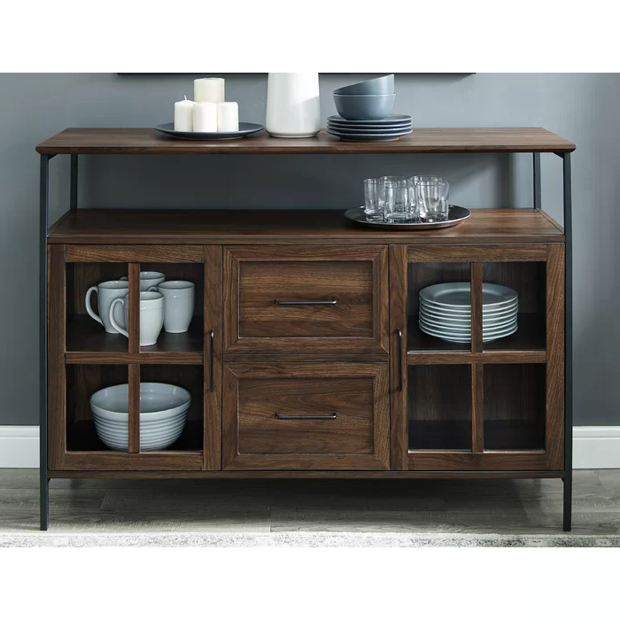 """Pin On Buffets And Cabinets Intended For 2019 Orianne 55"""" Wide 2 Drawer Sideboards (View 7 of 20)"""