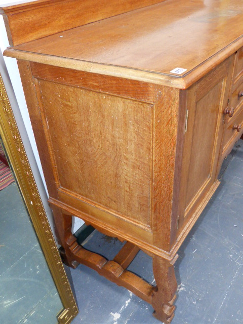 """Popular A Heal's Oak Small Sideboard With Three Drawers Flanked Intended For Albright 58"""" Wide 3 Drawer Sideboards (View 15 of 20)"""