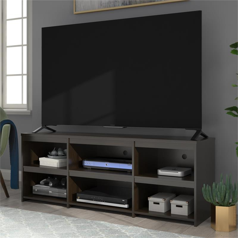 """Popular Ameriwood Home Alan View Tv Stand Up To 65"""" In Espresso With Regard To Herington Tv Stands For Tvs Up To 60"""" (View 17 of 20)"""