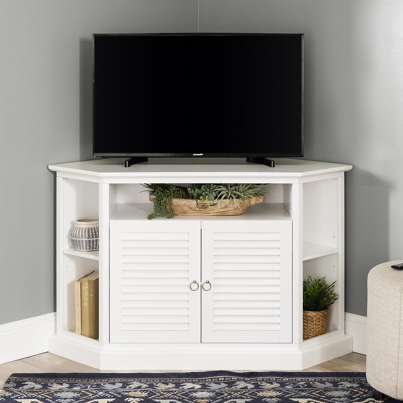 """Popular Beachcrest Home Greeson Corner Tv Stand For Tvs Up To 58 In Josie Tv Stands For Tvs Up To 58"""" (View 12 of 20)"""