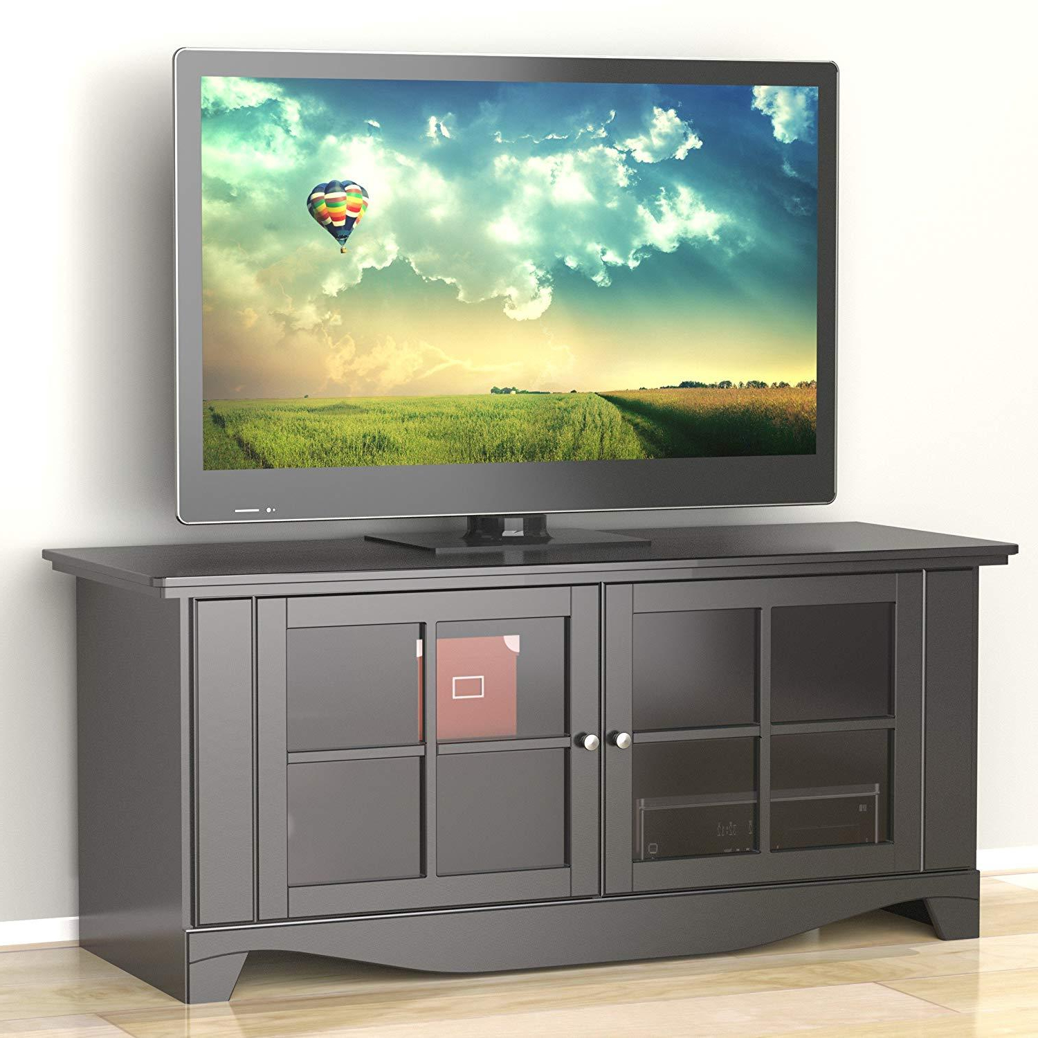 Popular Black Tv Stand Flat Screen 56 Inch Television With Regard To Kemble Tv Stands For Tvs Up To (View 16 of 20)