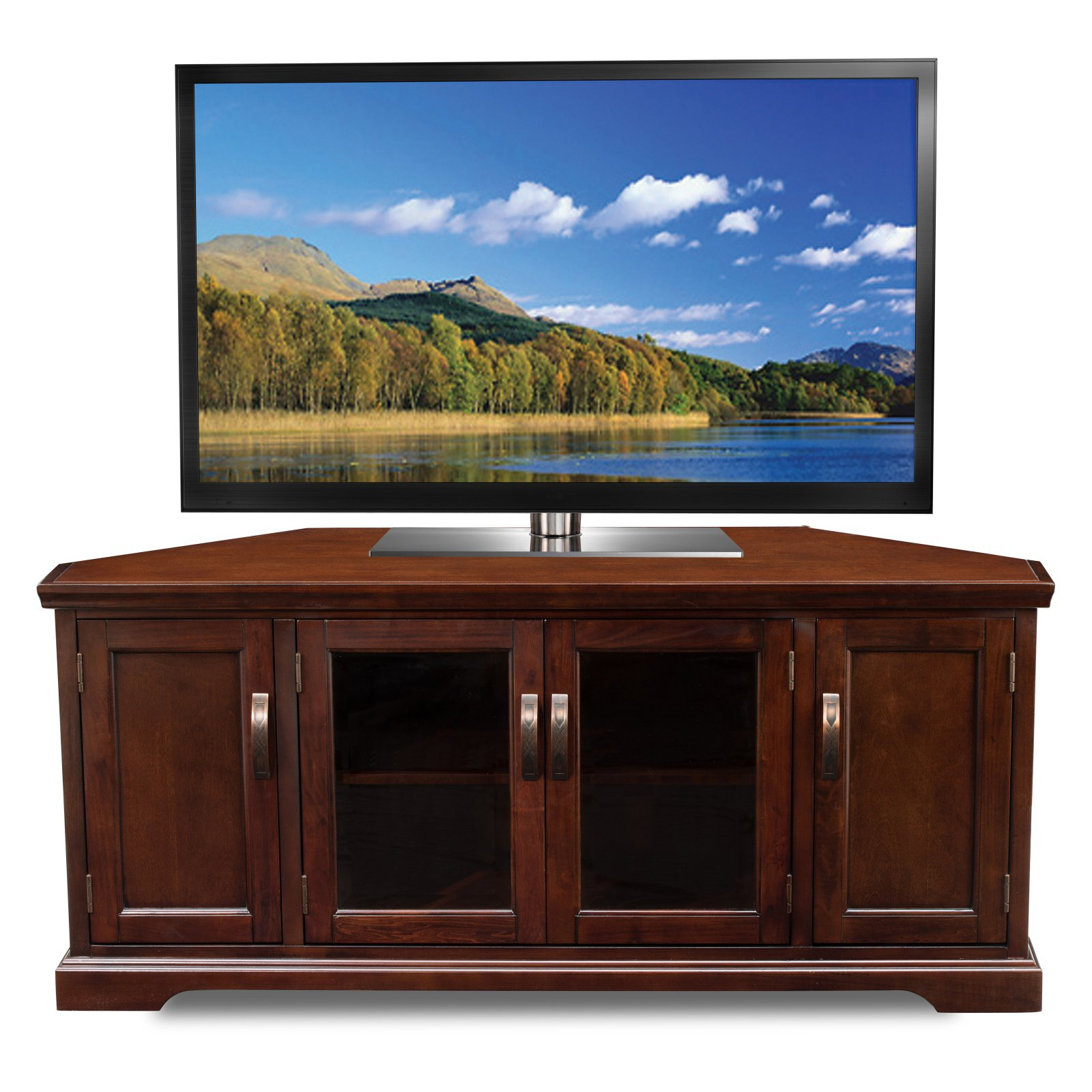 """Popular Leick Home 56"""" Corner Tv Stand For Tv's Up To 60 In Miah Tv Stands For Tvs Up To 60"""" (View 20 of 20)"""