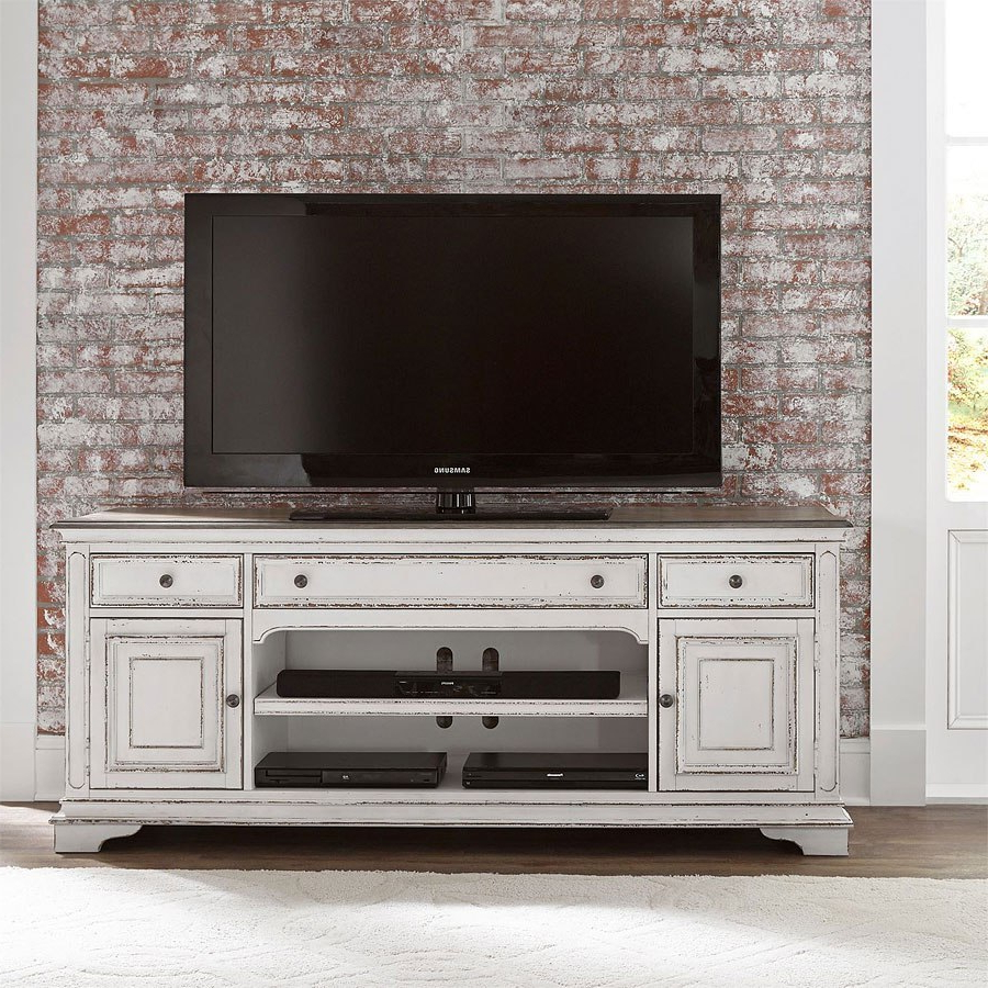 """Popular Lorraine Tv Stands For Tvs Up To 70"""" Inside Magnolia Manor 70 Inch Tv Stand Liberty Furniture, (View 13 of 20)"""
