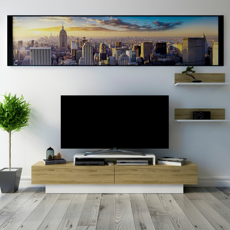 """Popular Orren Ellis Pritts Tv Stand For Tvs Up To 78"""" & Reviews With Finnick Tv Stands For Tvs Up To 65"""" (View 2 of 20)"""