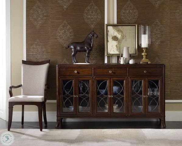 Popular Palisade Brown Buffet From Hooker (View 4 of 20)