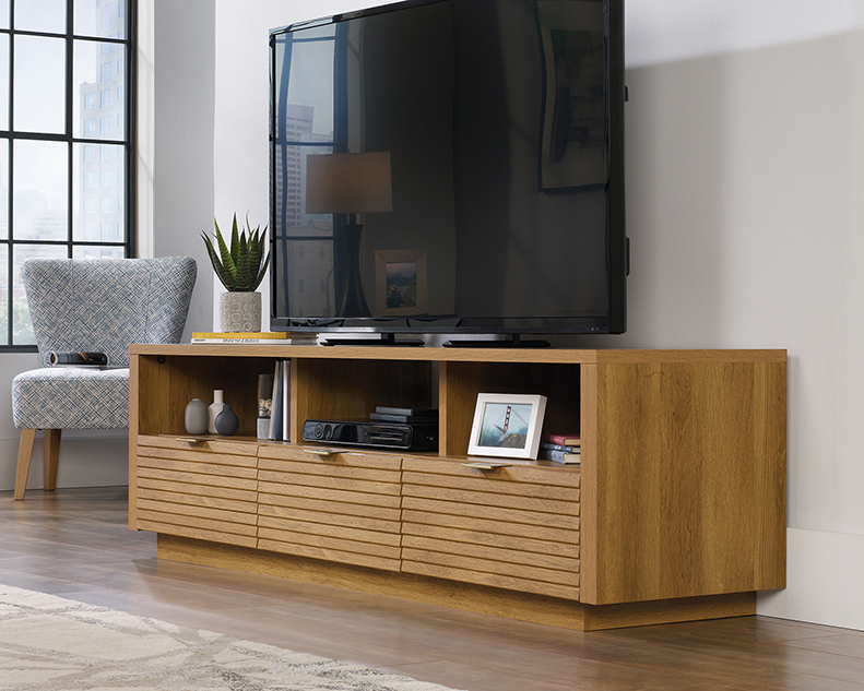 Popular Park Credenzas Throughout Sauder 414986 Harvey Park Collection Credenza Tv Stand (View 2 of 20)