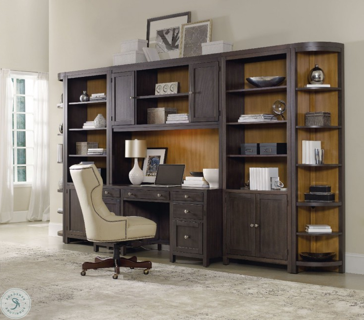 Popular South Park Brownish Gray Computer Credenza With Hutch Pertaining To Park Credenzas (View 14 of 20)