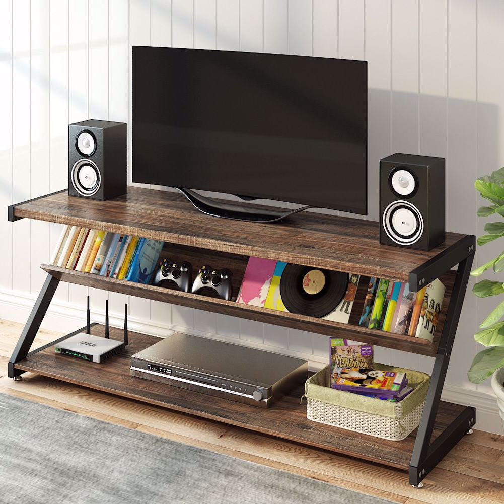 """Popular Tribesigns Tv Stand, Entertainment Center With Shelves For For Miah Tv Stands For Tvs Up To 60"""" (View 16 of 20)"""