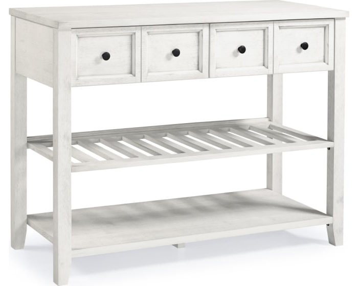 """Popular White 48"""" Solid Wood 2 Drawer Buffet With Desirae 48"""" Wide 2 Drawer Sideboards (View 18 of 20)"""