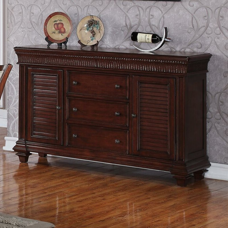 """Popular World Menagerie Souleymane 58"""" Wide 5 Drawer Sideboard Pertaining To Keiko 58"""" Wide Sideboards (View 12 of 20)"""