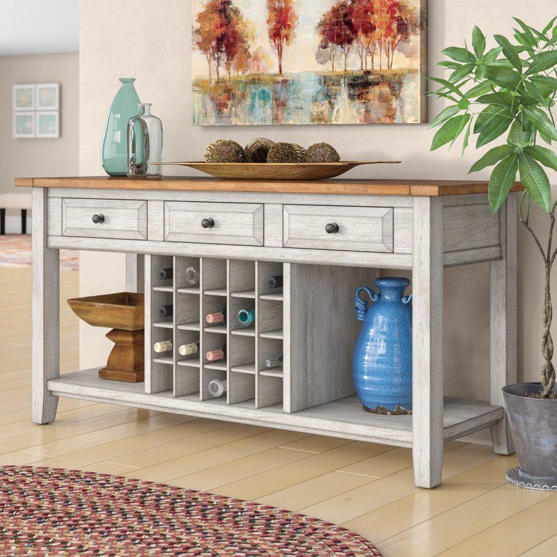 """Preferred Fortville 62"""" Wide 3 Drawer Rubberwood Sideboard (with In Annabella 54"""" Wide 3 Drawer Sideboards (View 9 of 20)"""