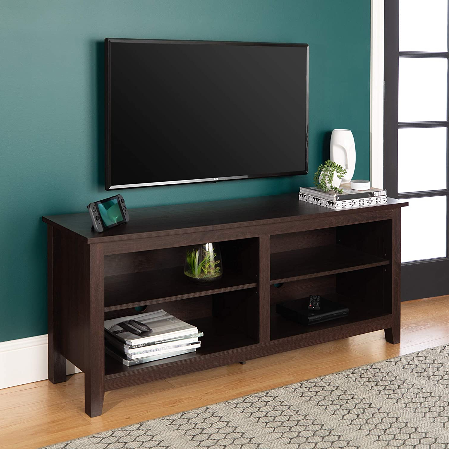 """Preferred Labarbera Tv Stands For Tvs Up To 58"""" Intended For Sekey Home Entertainment Center Wood Media Tv Stand, 58 Inch (View 3 of 20)"""
