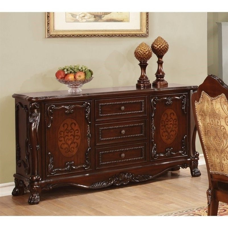 Preferred Lowest Price Online On All Coaster Benbrook Dining Buffet Pertaining To Orner Traditional Wood Sideboards (View 7 of 20)