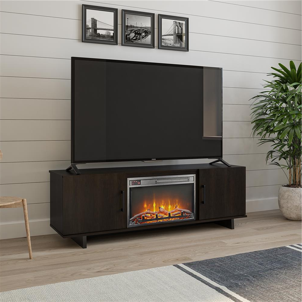 """Preferred Miah Tv Stands For Tvs Up To 60"""" Inside Ameriwood Home Julia 60 In (View 19 of 20)"""