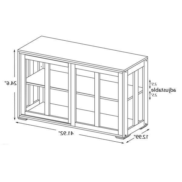 "Preferred Oretta 41.92"" Wide Sideboards Throughout Red Barrel Studio® Oretta  (View 3 of 20)"