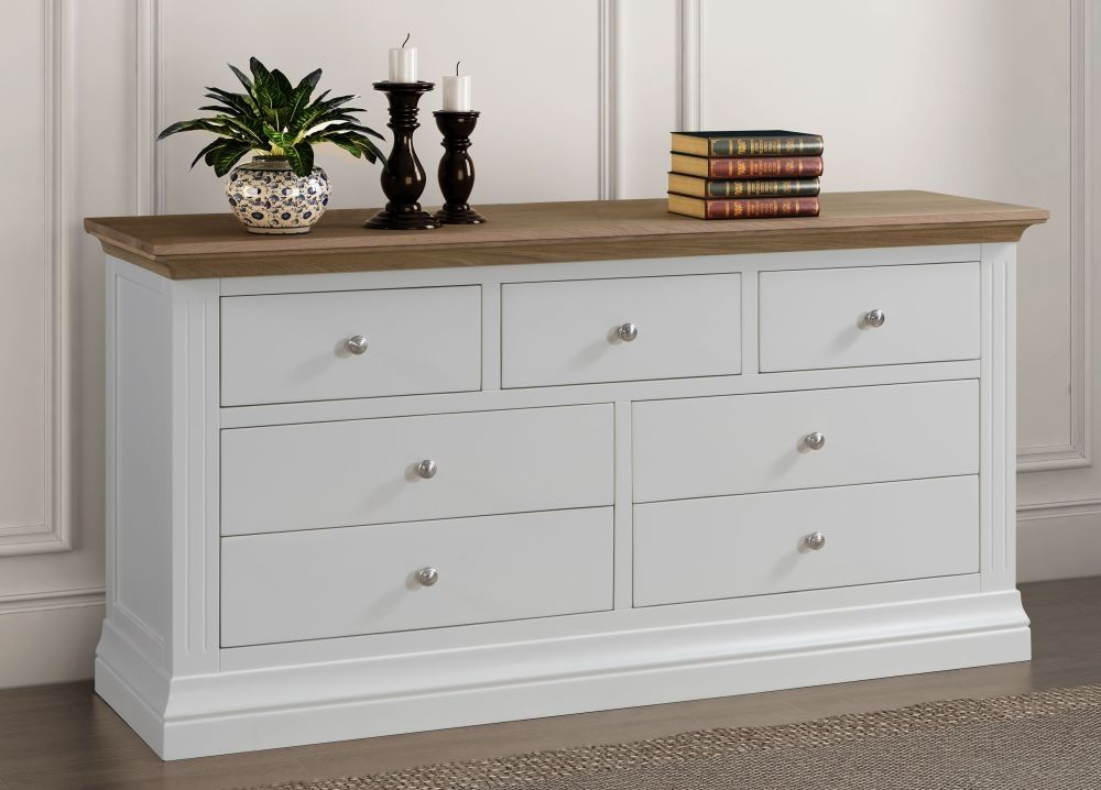 """Featured Photo of Thame 70"""" Wide 4 Drawers Pine Wood Sideboards"""