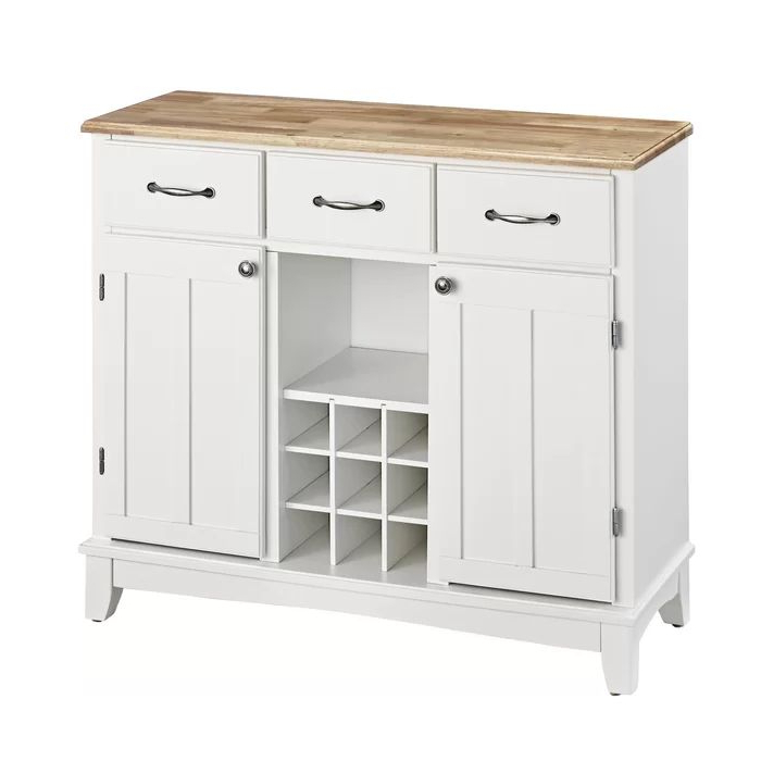 """Presswood Traditional 41.75"""" Wide 3 Drawer Wood Drawer Servers In Best And Newest Presswood Traditional (View 14 of 20)"""