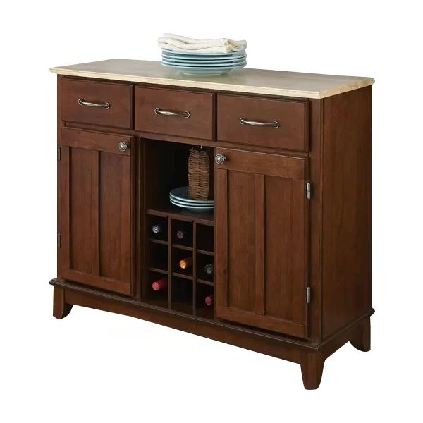 """Presswood Traditional 41.75"""" Wide 3 Drawer Wood Drawer Servers Within Famous Presswood Traditional (View 13 of 20)"""