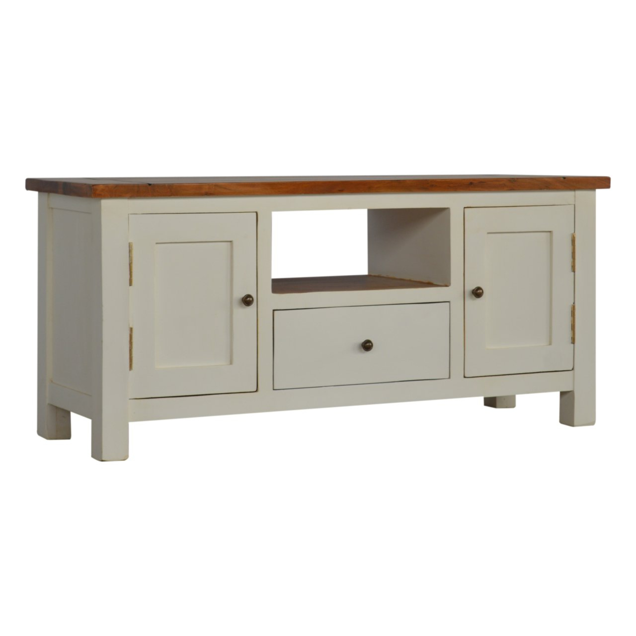 """Quillen Tv Stands For Tvs Up To 43"""" For Most Recently Released Country Two Tone Solid Wood Tv Stand For Tvs Up To (View 20 of 20)"""