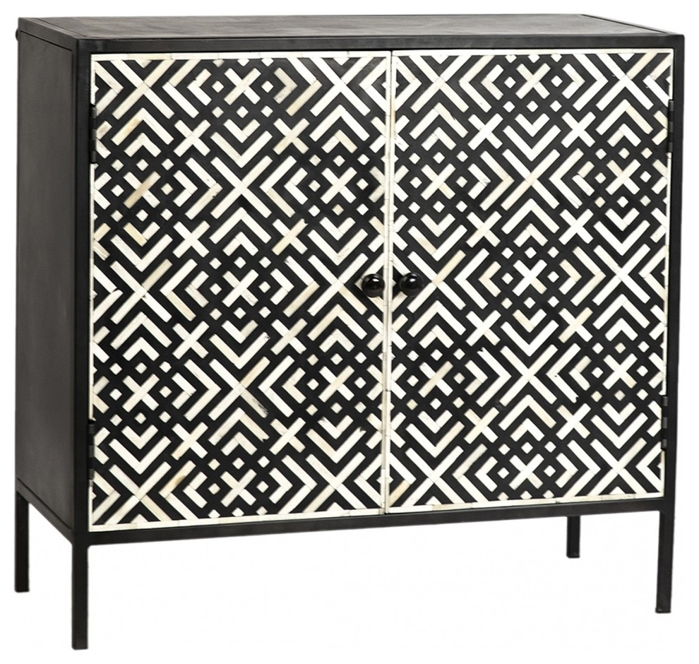 """Raybon Buffet Tables Pertaining To Well Known 36"""" W Alvisa 2 Door Sideboard Iron In Gunmetal Finsih With (View 17 of 20)"""