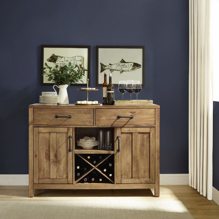 """Recent Avenal 52"""" Wide 2 Drawer Sideboard In (View 13 of 20)"""
