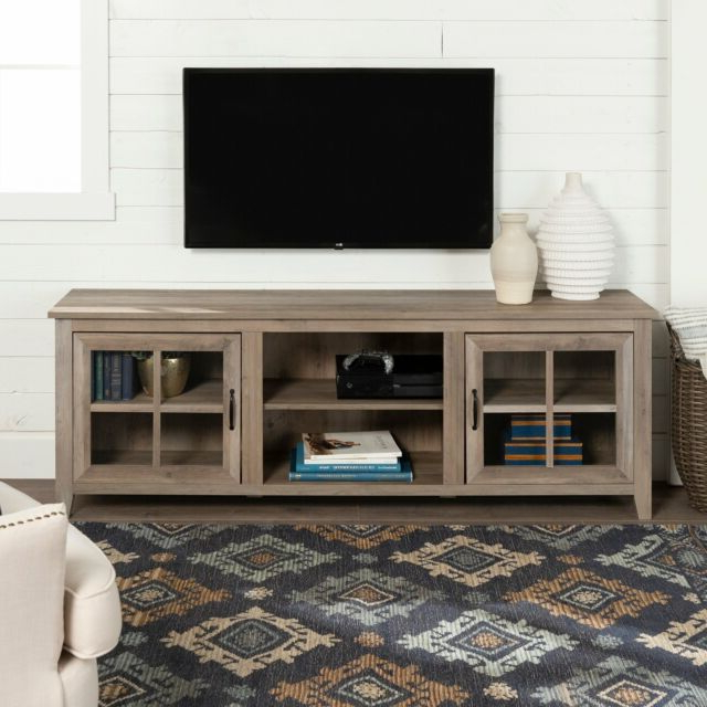 """Recent Copper Grove Dornbirn 70 Inch Tv Stand Console Grey Wash Intended For Mainor Tv Stands For Tvs Up To 70"""" (View 3 of 20)"""