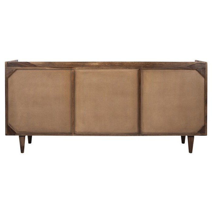 """Recent Cora Rose 62.9"""" Wide 3 Drawer Acacia Wood Sideboard (with Inside Cora Rose (View 11 of 20)"""