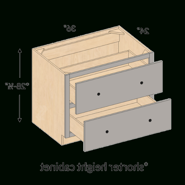 """Recent Ctdb36 2 – Belleair Maple Haze Cooktop Drawer Base Cabinet In Daisi 50"""" Wide 2 Drawer Sideboards (View 4 of 20)"""
