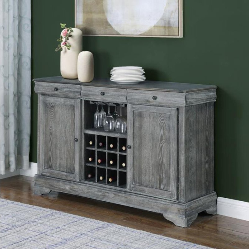 """Recent Ismay 56"""" Wide 3 Drawer Sideboards Intended For One Allium Way® Gish 56'' Wide 3 Drawer Credenza (View 9 of 20)"""