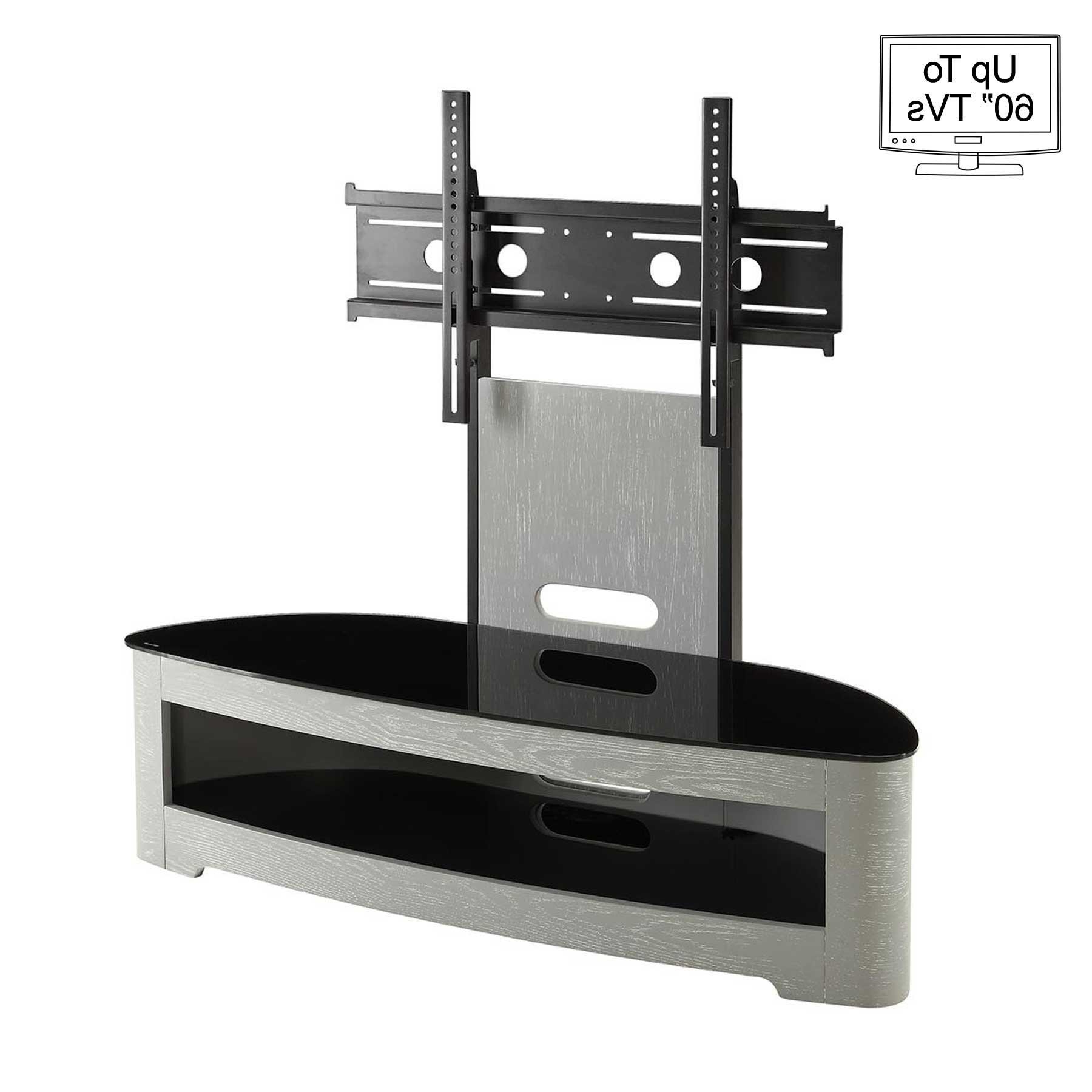 """Recent Lorraine Tv Stands For Tvs Up To 60"""" With Jual Jf209 Curve Grey Tv Stand For Up To 60"""" Tvs (View 15 of 20)"""