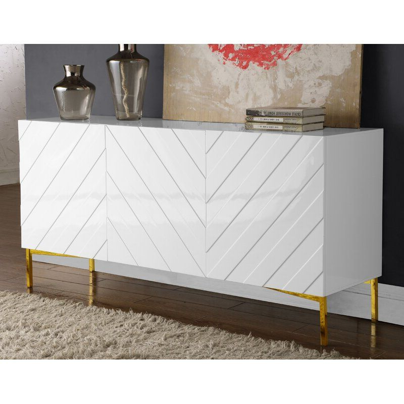 """Recent Malcom 64"""" Wide Birch Wood Sideboard In (View 2 of 20)"""