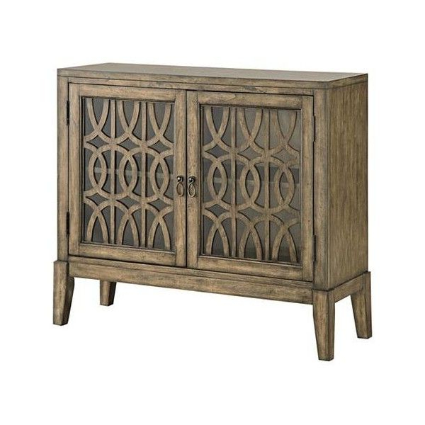 Recent Pendleton Kire Burnished Parchment 2 Door Accent Cabinet With Regard To Wood Accent Sideboards Buffet Serving Storage Cabinet With 4 Framed Glass Doors (View 4 of 20)