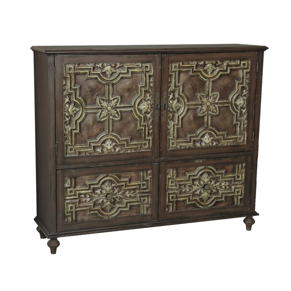 """Recent Sandweiler 54"""" Wide 2 Drawer Sideboards Pertaining To One Allium Way® Porras 57"""" Wide 2 Drawer Sideboard (View 17 of 20)"""