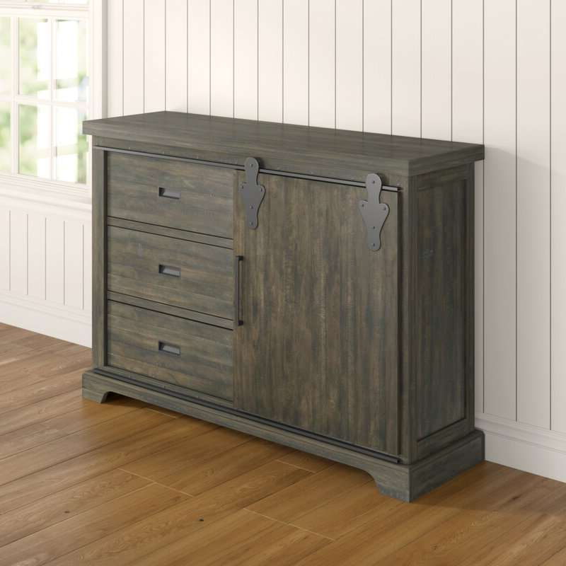 """Review kenworthy 60"""" Wide 3 Drawer Sideboard Drawer For Well Known Maeva 60"""" 3 Drawer Sideboards (View 2 of 20)"""