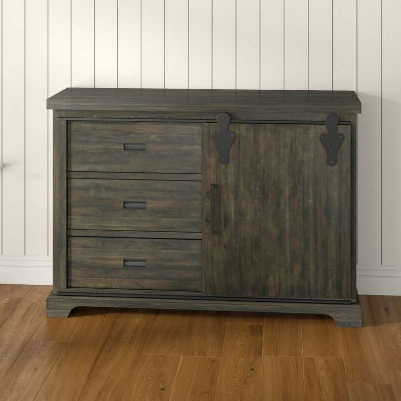 """Review kenworthy 60"""" Wide 3 Drawer Sideboard Drawer Intended For Most Up To Date Maeva 60"""" 3 Drawer Sideboards (View 8 of 20)"""