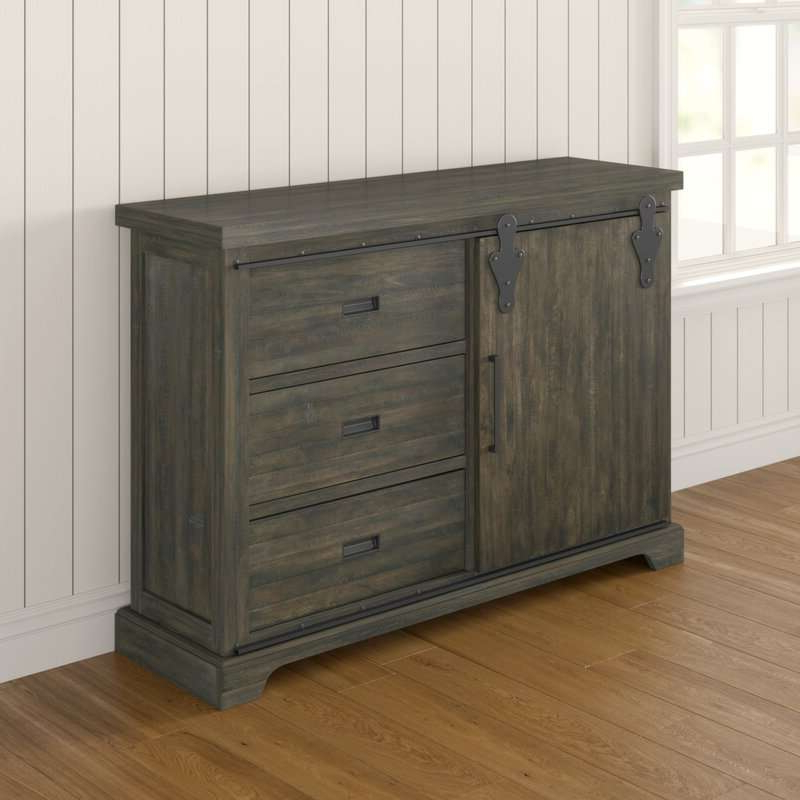 """Review kenworthy 60"""" Wide 3 Drawer Sideboard Drawer Within Well Known Caila 60"""" Wide 3 Drawer Sideboards (View 6 of 20)"""
