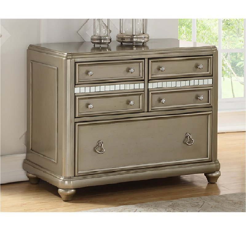 Rosdorf Park Lessing 3 Drawer Credenza (View 12 of 20)