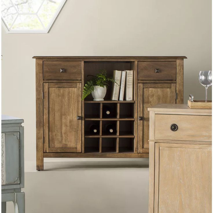 """Ross 48"""" Wide 2 Drawer Rubberwood Wood Server (View 7 of 20)"""