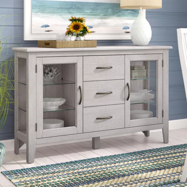 """Rustic Sideboard Within Recent Annabella 54"""" Wide 3 Drawer Sideboards (View 12 of 20)"""