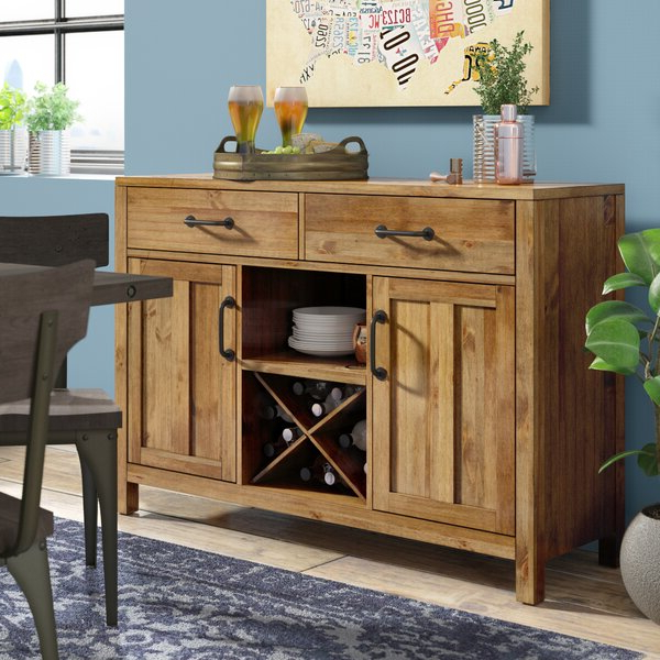 """Sandweiler 54"""" Wide 2 Drawer Sideboards Pertaining To Current Trent Austin Design® Avenal 52"""" Wide 2 Drawer Sideboard (View 15 of 20)"""
