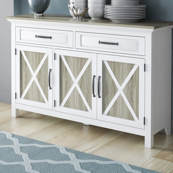 """Sandweiler 54"""" Wide 2 Drawer Sideboards Throughout Latest August Grove Haverly 52"""" Wide 2 Drawer Sideboard & Reviews (View 9 of 20)"""