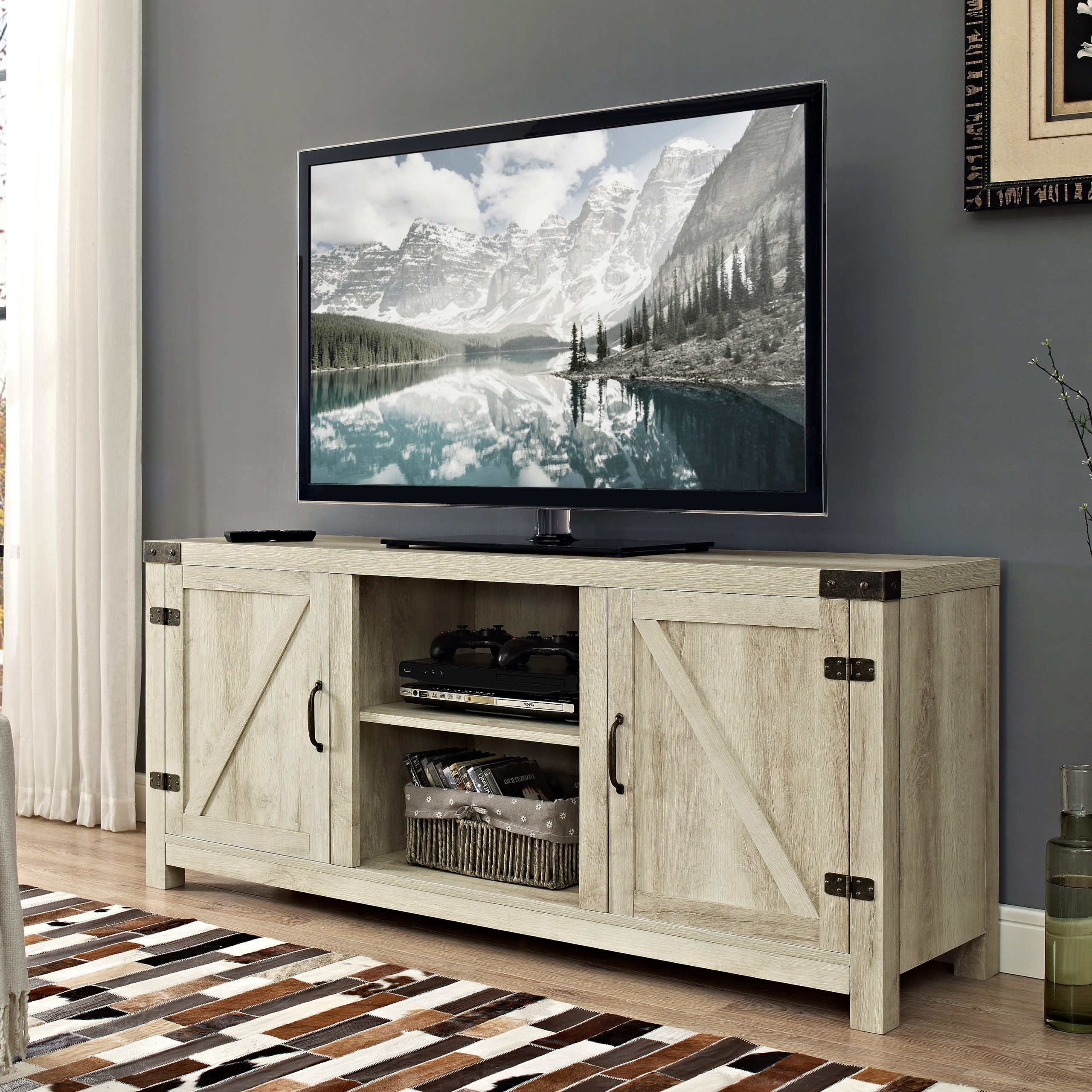 """Shilo Tv Stands For Tvs Up To 65"""" Throughout Newest 65 Inch Tv Stand Rustic Low Profile Media Console Wood (View 18 of 20)"""