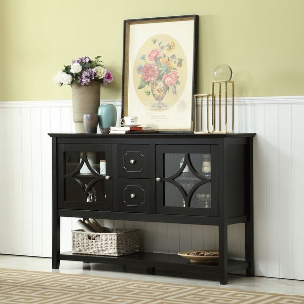 """Shop 50'' Wide 2 Drawer Buffet Table – Overstock – 31725274 Within 2020 Slattery 52"""" Wide 2 Drawer Buffet Tables (View 5 of 20)"""