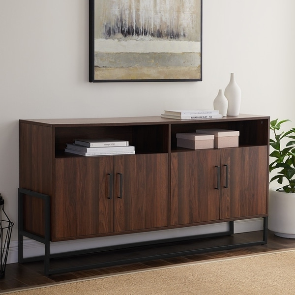 """Shop Carbon Loft Barnett 58 Inch Modern Tv Stand Console Regarding Fashionable Labarbera Tv Stands For Tvs Up To 58"""" (View 9 of 20)"""