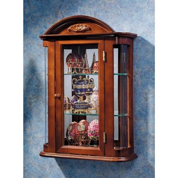 """Shop Design Toscano Rosedale Hardwood Wall Curio Cabinet Inside Popular Ogden 59"""" Sideboards (View 11 of 20)"""