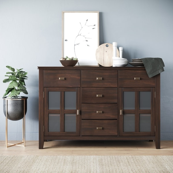"""Shop Stratford Solid Wood 54 Inch Wide Contemporary In Favorite Brentley 54"""" Wide 1 Drawer Sideboards (View 4 of 20)"""