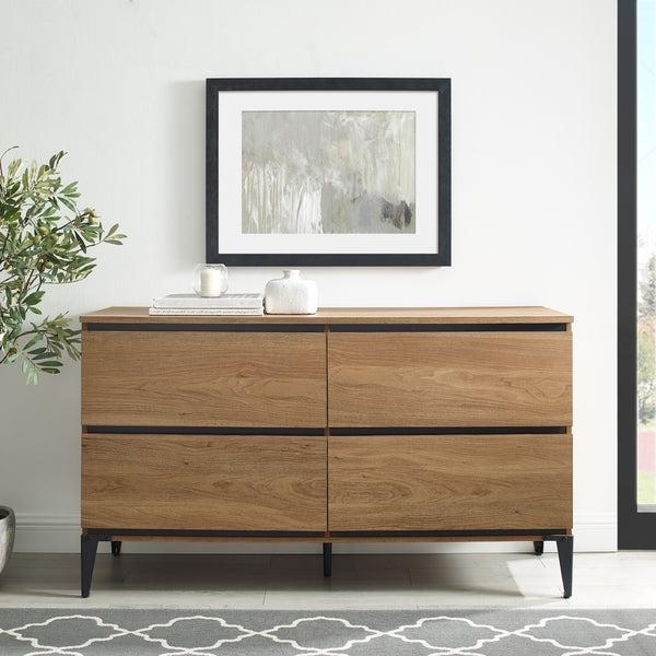 "Shop Strick & Bolton 52 Inch 4 Drawer Buffet Sideboard Regarding 2019 Slattery 52"" Wide 2 Drawer Buffet Tables (View 9 of 20)"