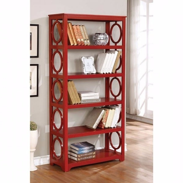 """Shop Zoey Contemporary Display Shelf, Red – Free Shipping In Well Known Ogden 59"""" Sideboards (View 12 of 20)"""